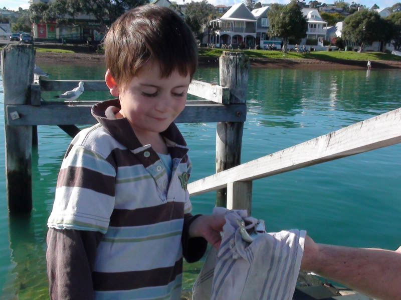 Benjamin fishing on holiday